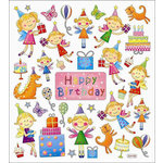 Sticker King - Clear Stickers - Birthday Fairies