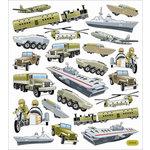 Sticker King - Clear Stickers - Army Fun