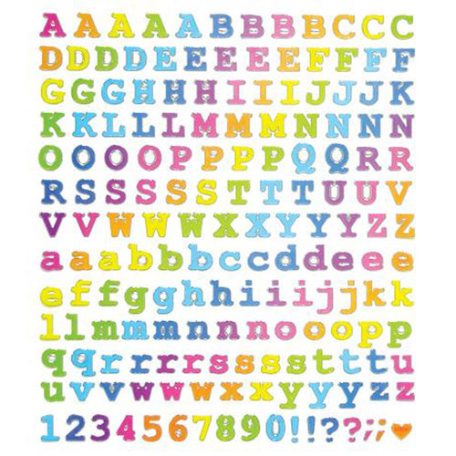 Sticker King Courier Type Alphabet Clear Stickers