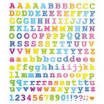 Sticker King - Clear Stickers with Foil Accents - Courier Type Alphabet