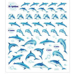 Sticker King - Clear Stickers with Foil Accents - Blue Dolphins