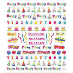 Sticker King - Clear Stickers with Foil Accents - Birthday Icons