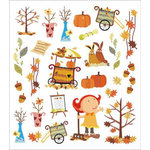 Sticker King - Clear Stickers with Foil Accents - Autumn Fest