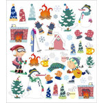Sticker King - Clear Stickers with Foil Accents - Winter Icons