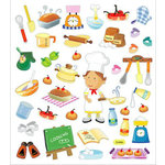 Sticker King - Clear Stickers with Foil Accents - Cooking