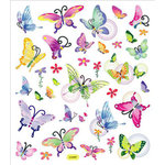 Sticker King - Clear Stickers with Foil Accents - Butterflies in Flight