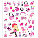 Sticker King - Clear Stickers with Foil Accents - Dress Up