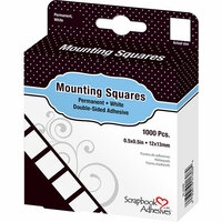 3L - Mounting Squares - Permanent - White