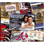 That's My Ticket - Major League Baseball Collection - 8 x 8 Postbound Scrapbook and Photo Album - Atlanta Braves