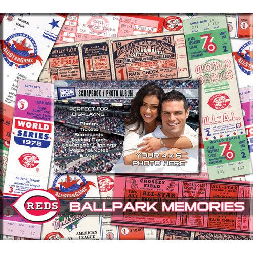 That's My Ticket - Major League Baseball Collection - 8 x 8 Postbound Scrapbook and Photo Album - Cincinnati Reds