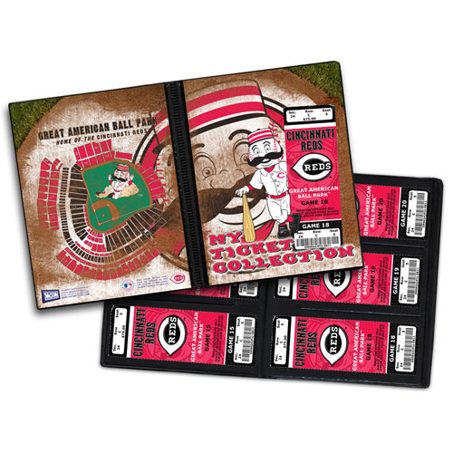 That's My Ticket - Major League Baseball Collection - 8 x 8 Mascot Ticket Album - Cincinnati Reds - Mr. Redlegs