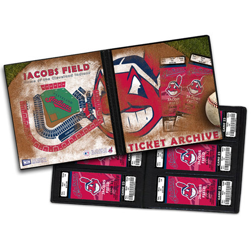 That's My Ticket - Major League Baseball Collection - 8 x 8 Ticket Album - Cleveland Indians