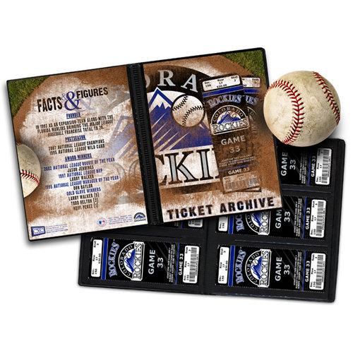 That's My Ticket - Major League Baseball Collection - 8 x 8 Ticket Album - Colorado Rockies
