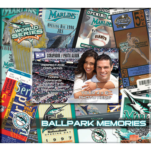That's My Ticket - Major League Baseball Collection - 8 x 8 Postbound Scrapbook and Photo Album - Florida Marlins