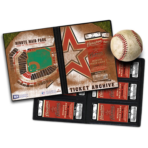That's My Ticket - Major League Baseball Collection - 8 x 8 Ticket Album - Houston Astros