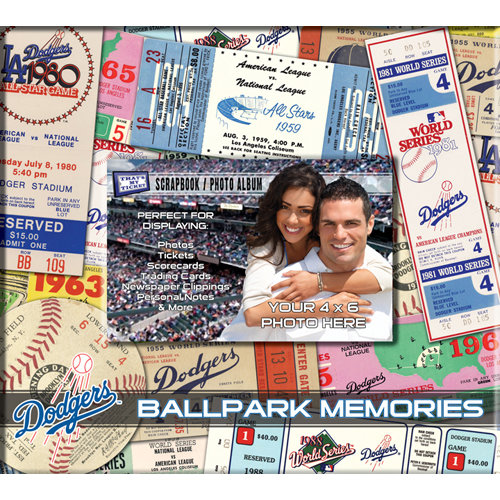 That's My Ticket - Major League Baseball Collection - 8 x 8 Postbound Scrapbook and Photo Album - Los Angeles Dodgers