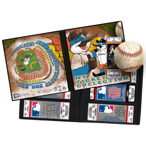 That's My Ticket - Major League Baseball Collection - 8 x 8 Mascot Ticket Album - Miami Marlins - Billy the Marlin