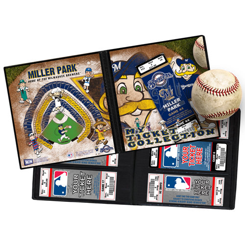 That's My Ticket - Major League Baseball Collection - 8 x 8 Mascot Ticket Album - Milwaukee Brewers - Bernie Brewer