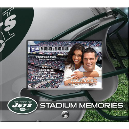 That's My Ticket - National Football League Collection - 8 x 8 Postbound Scrapbook and Photo Album - New York Jets
