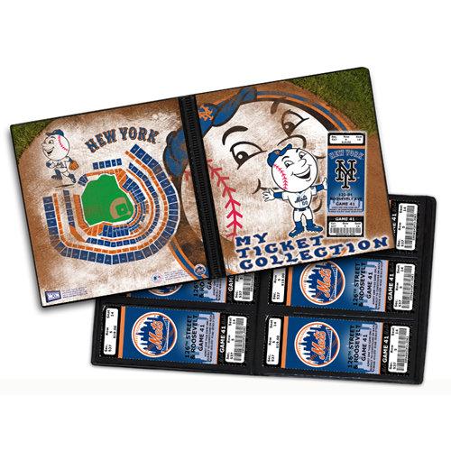 That's My Ticket - Major League Baseball Collection - 8 x 8 Mascot Ticket Album - New York Mets - Mr. Met
