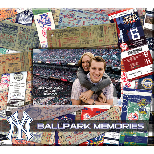 That's My Ticket - Major League Baseball Collection - 8 x 8 Postbound Scrapbook and Photo Album - New York Yankees