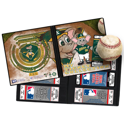 That's My Ticket - Major League Baseball Collection - 8 x 8 Mascot Ticket Album - Oakland Athletics - Stomper