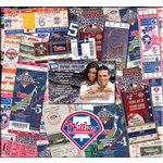 That's My Ticket - Major League Baseball Collection - 12 x 12 Postbound Scrapbook and Photo Album - Philadelphia Phillies