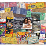 That's My Ticket - Major League Baseball Collection - 12 x 12 Postbound Scrapbook and Photo Album - Pittsburgh Pirates