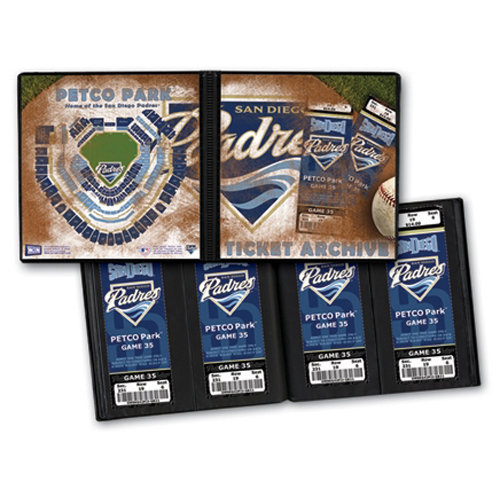That's My Ticket - Major League Baseball Collection - 8 x 8 Ticket Album - San Diego Padres