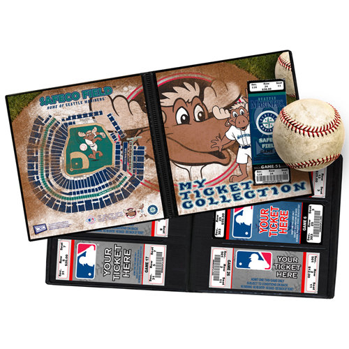 That's My Ticket - Major League Baseball Collection - 8 x 8 Mascot Ticket Album - Seattle Mariners - Mariner Moose