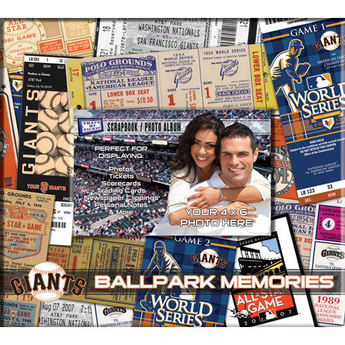 That's My Ticket - Major League Baseball Collection - 8 x 8 Postbound Scrapbook and Photo Album - San Francisco Giants