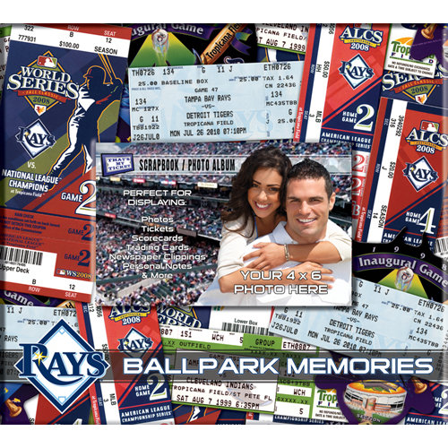 That's My Ticket - Major League Baseball Collection - 8 x 8 Postbound Scrapbook and Photo Album - Tampa Bay Rays