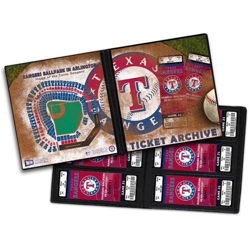 That's My Ticket - Major League Baseball Collection - 8 x 8 Ticket Album - Texas Rangers