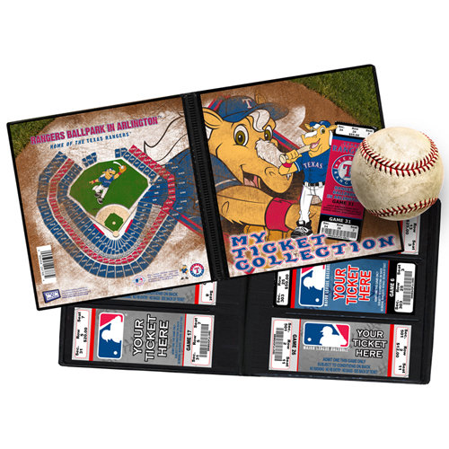 That's My Ticket - Major League Baseball Collection - 8 x 8 Mascot Ticket Album - Texas Rangers - Rangers Captain
