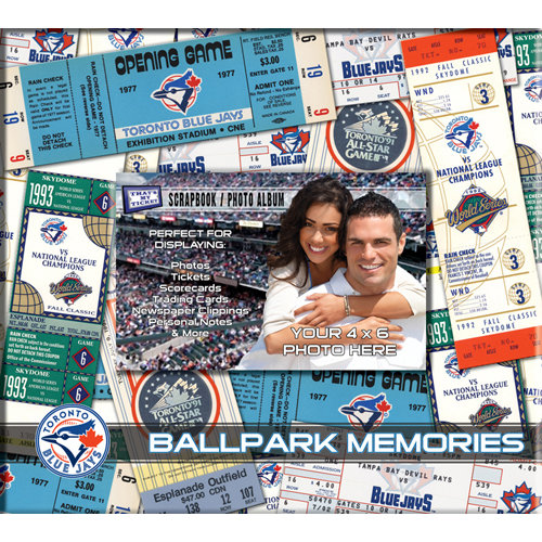 That's My Ticket - Major League Baseball Collection - 8 x 8 Postbound Scrapbook and Photo Album - Toronto Blue Jays