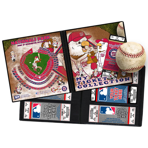 That's My Ticket - Major League Baseball Collection - 8 x 8 Mascot Ticket Album - Washington Nationals - Screech and The Presidents