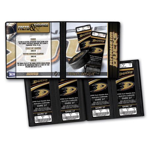 That's My Ticket - National Hockey League Collection - 8 x 8 Ticket Album - Anaheim Ducks