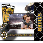 That's My Scrapbook - National Hockey League Collection - 8 x 8 Postbound Scrapbook and Photo Album - Boston Bruins