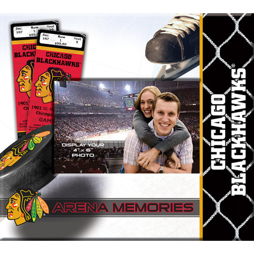 That's My Scrapbook - National Hockey League Collection - 8 x 8 Postbound Scrapbook and Photo Album - Chicago Blackhawks