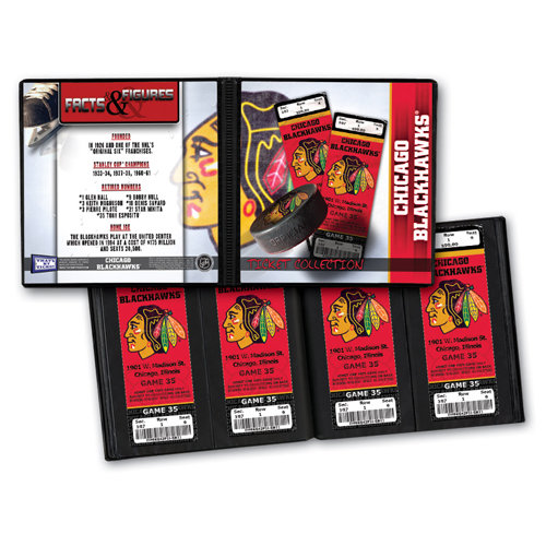 That's My Ticket - National Hockey League Collection - Ticket Album - Chicago Blackhawks