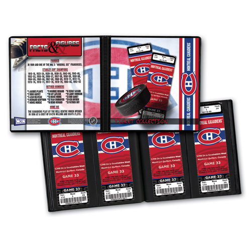 That's My Ticket - National Hockey League Collection - 8 x 8 Ticket Album - Montreal Canadiens