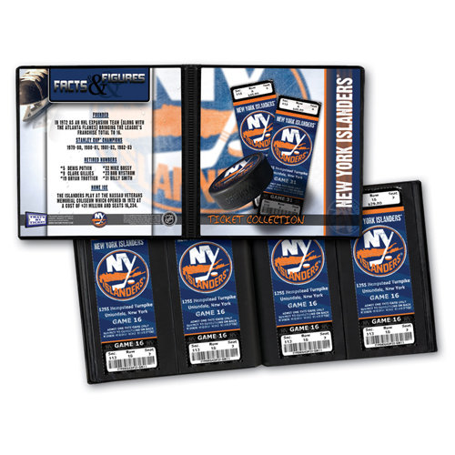 That's My Ticket - National Hockey League Collection - 8 x 8 Ticket Album - New York Islanders