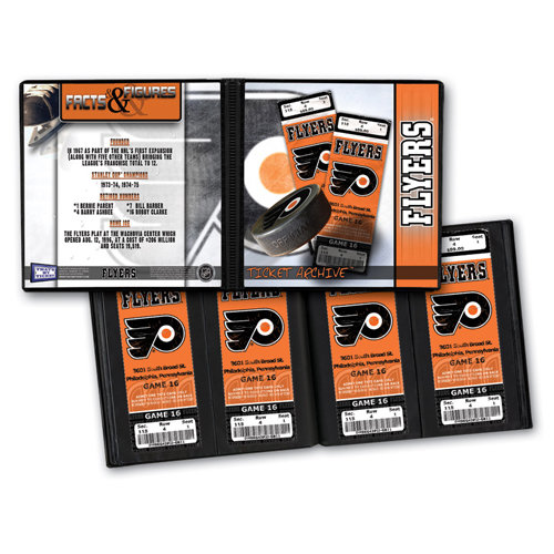 That's My Ticket - National Hockey League Collection - 8 x 8 Ticket Album - Philadelphia Flyers