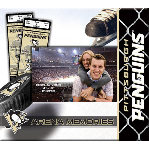 That's My Scrapbook - National Hockey League Collection - 8 x 8 Postbound Scrapbook and Photo Album - Pittsburgh Penguins