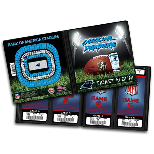 That's My Ticket - National Football League Collection - 8 x 8 Ticket Album - Carolina Panthers