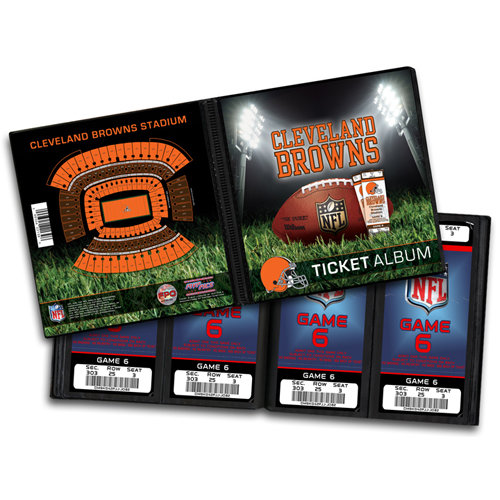 That's My Ticket - National Football League Collection - 8 x 8 Ticket Album - Cleveland Browns