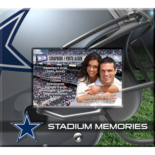 That's My Ticket - National Football League Collection - 8 x 8 Postbound Scrapbook and Photo Album - Dallas Cowboys