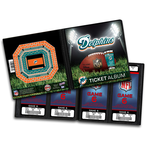 That's My Ticket - National Football League Collection - 8 x 8 Ticket Album - Miami Dolphins