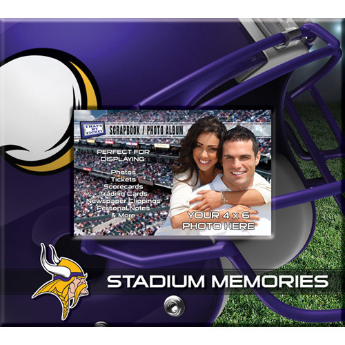 That's My Ticket - National Football League Collection - 8 x 8 Postbound Scrapbook and Photo Album - Minnesota