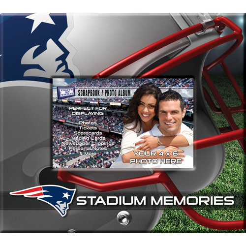 That's My Ticket - National Football League Collection - 8 x 8 Postbound Scrapbook and Photo Album - New England Patriots